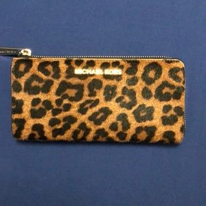Michael Kors Leopard full size wallet